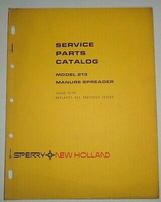 New Holland 213 Manure Spreader Parts Manual Catalog Book 574 Nh Original