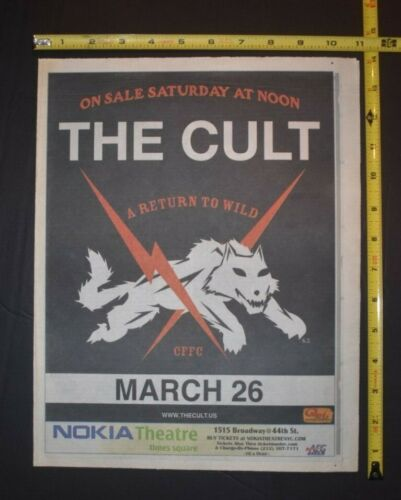 The Cult 2006 Concert Ad A Return To Wild Nokia Theater NYC