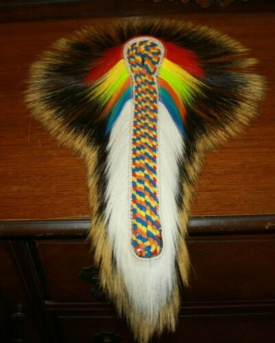 "NEW NATIVE AMERICAN REGALIA 18"" POW WOW PORCUPINE/DEER ROACH FREE SHIPPING"
