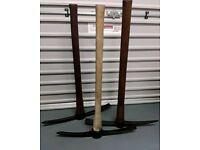 Wooden handle pick axes refurbished.