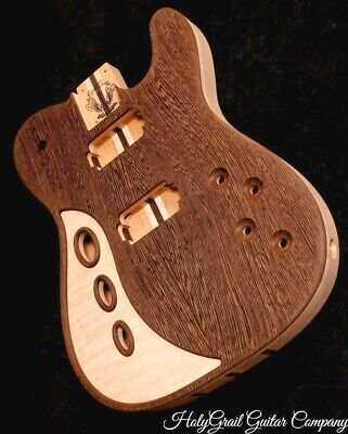 HH Telecaster Body • Flame Maple • Wenge • Alder / Tele Guitar Body / Pre-Order