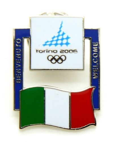 Pin Brooch Olympics Torino 2006 - Flags - Flag Italy, CM 2 x 2,5
