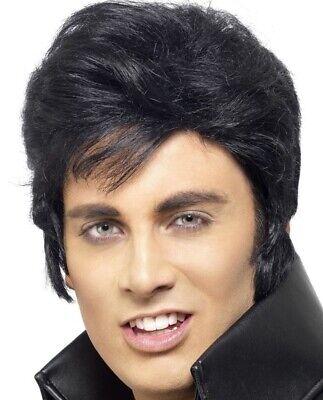Herren Offiziell Lizenziert Elvis Presley Kostüm Perücke von - Elvis Presley Kostüme Perücke
