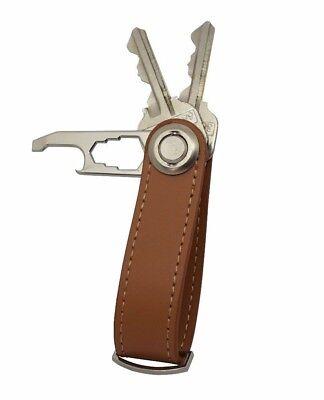 Leather Key Holder Organizer Keychain Multi-Tool - (Orbitkey Style)