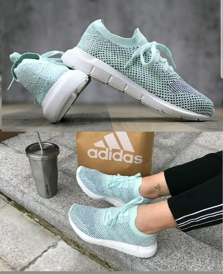 Adidas Originals Swift Run Pk W Primeknit CQ2034 Women  Running Shoes Aqua Blue 1