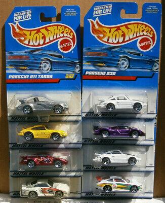 Lot Of 8 Vintage Hot Wheels Porshe Cars 911, 930, 959, 911 GT3, GT1-98, Targa,