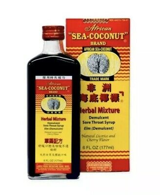 Coconut Medicine (NEW African Sea Coconut Cough Sore Throat Medicine 6 oz./ 177ml-FREE SHIPPING )