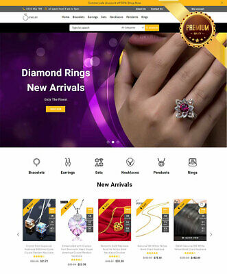 Dropshipping Website For Sale - Own A Jewelry Store Ecommerce Business.
