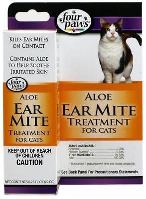 Four Paws Earmite Treatment for Cats, 0.75 - Paw Treatment