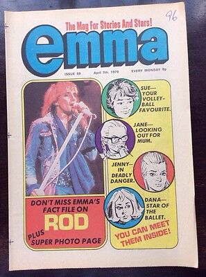 EMMA COMIC. 7 APRIL 1979. NO. 59.  VFN+/NR MINT CONDITION. ROD STEWART FACT FILE