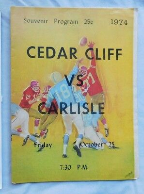 Cedar Cliff High School Vs Carlisle Pa Program 10/25/74