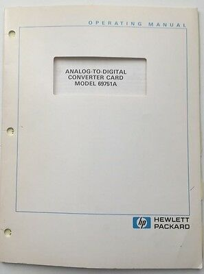 Hp 69751a Analog-to-digital Converter Card Operating Manual Pn 69751-90003