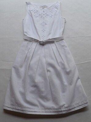 NWT L.K. Bennett London DR/Livia Optic White Lined Belted Pleated Dress Sz2 (Optical London)