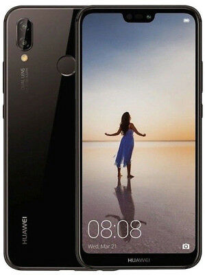 HUAWEI P20 LITE 64GB MONO SIM BLACK NERO BRAND 5,8' 4GB RAM GARANZIA ITALIA