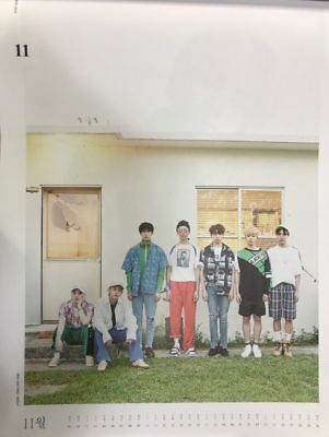 BTS 2018 WALL CALENDAR LIMITED EDITION (Nov) GROUP Ver FOLDED PAPER ONLY SEALED