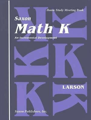 Saxon Math Homeschool K Meeting Book First Edition Kindergarten 9781565770218