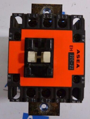 ASEA EH22C-22 3 pole 43 Amp 600 Volt Contactor 24 VDC Coil