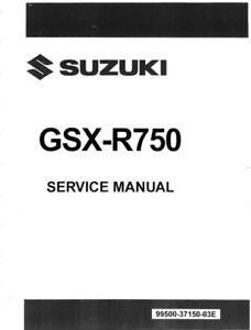 Suzuki GSX-R 750 2011 2012 2013 2014 2015 GSX-R750 service manual on CD