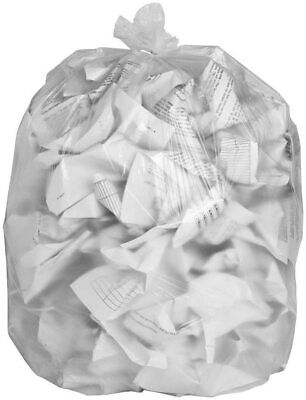 40 x Clear Refuse Sacks Heavy Duty Strong Recycling Bags Bin liners 100L