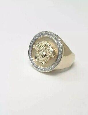 10kt solid yellow gold Versace Medusa Gold Ring not scrap heavy xl fashion sz6.5