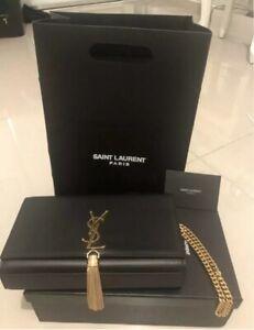 Authentic YSL Saint Laurent Kate Black Tassel.