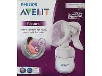 Phillips Avent Manual Breast Pump Comfort proven - unused new - with free stuff
