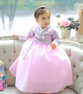 Pink Hanbok Girl Baby Korea Dress 1 Age First Birthday Party dolbok Costumes