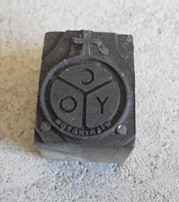Vintage Cyo Wilmington Wood Metal Letterpress Print Block Stamp
