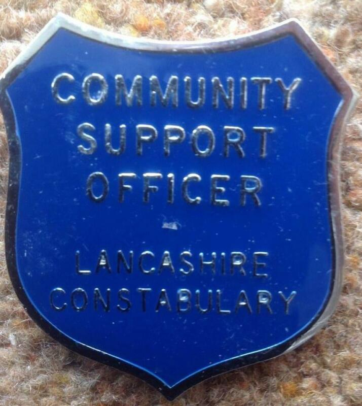 British COMMUNITY SUPPORT OFFICER VISOR BADGE- LANCASHIRE  CONSTABULARY