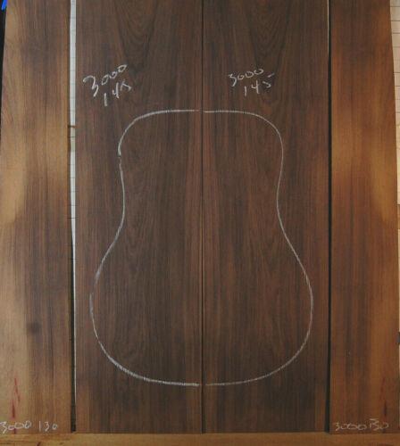 very fine  madagascar rosewood back side guitar set luthier tonewood back sides