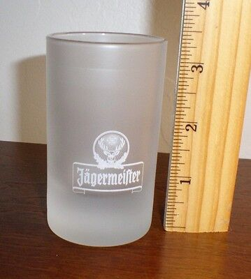 "Jägermeister Frosted Shot Glass ""White Stag Logo"" holds 4cl by ARC"