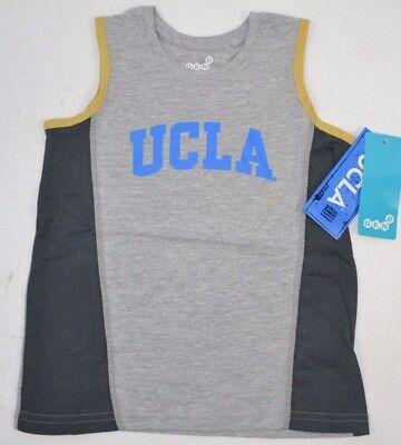 NCAA UCLA BRUINS Boys 4-7 Fan Gear Tank Top T-Shirt SMALL (4) NEW