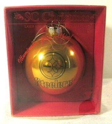 NFL Pittsburgh Steelers Laser Light Up Christmas Ornament Decor 4