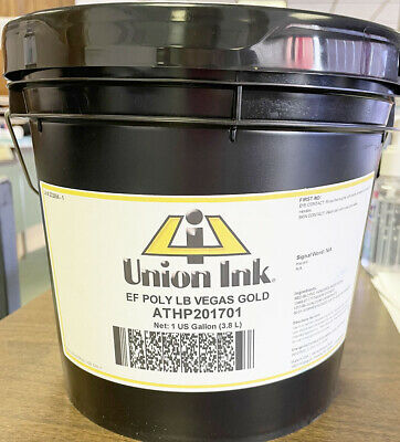 Union Ink Athletic Plastisol Ink-quart-low Bleed Vegas Gold - Gallon Athp2017g