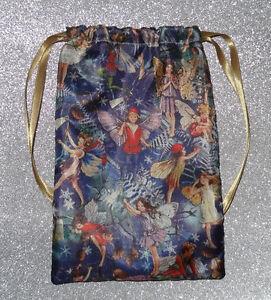 Vintage style Satin Fairy Tarot Card Bag, ideal for, Pagan & Wicca tarot cards