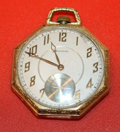 1935  Model 1894 Grade 1217 Waltham Gold Filled 12s 15j Pocket Watch - WORKING