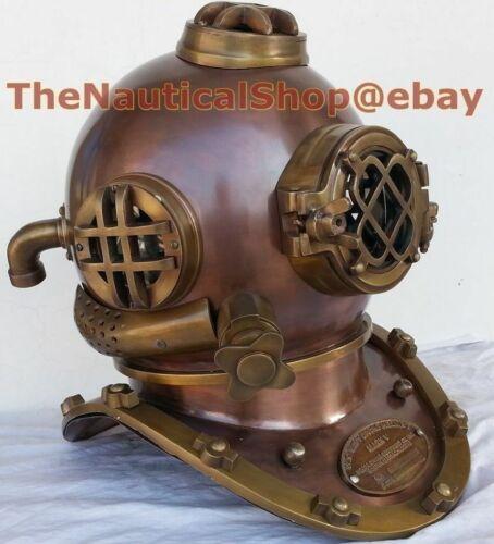 Antique DIVER DIVING Helmet DEEP SEA Steel Commercial Brass Diving Scuba Helmet