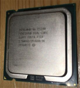 Intel E5200 dual core 2,5GHz