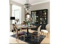 Beautiful designer wooden round pedestal dining table