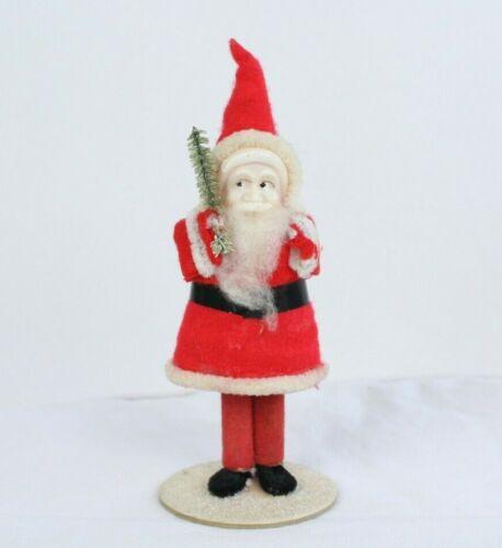 Vtg Santa Claus Elf Pipe Cleaner Tree Felt Christmas Figure Japan SHIPS SAME DAY