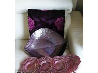 Decorative Glass Fruit Bowl and plates_Purple Perl
