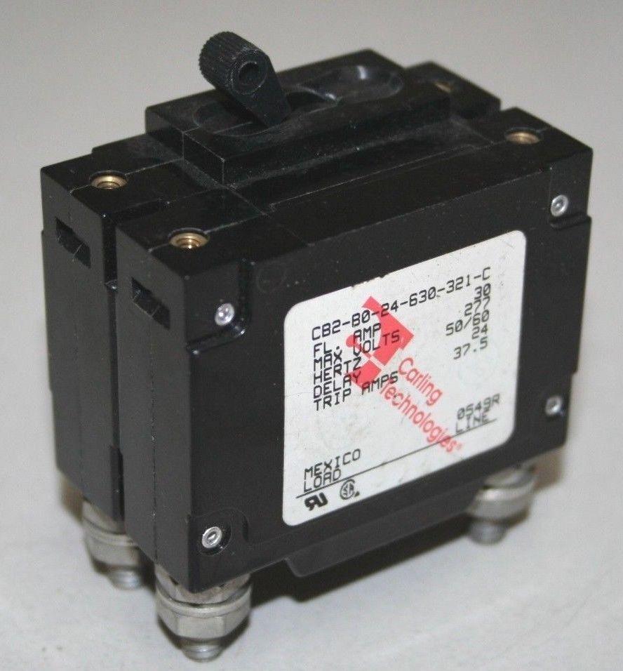 Carling 30 Amp Double Pole Circuit Breaker - CB2-B0-24-630-321-C