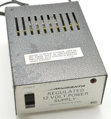 Micronta Regulated 12 Volt Power Supply Cat. No. 22-124a Radio Shack Tested