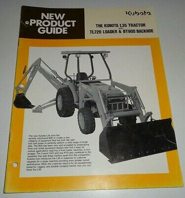 Kubota L35 Tractor Loader Backhoe New Product Guide Sales Brochure Manual