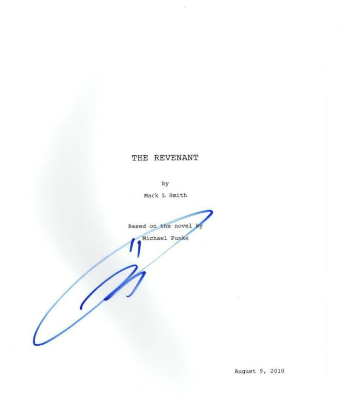 TOM HARDY SIGNED THE REVENANT FULL SCRIPT AUTHENTIC AUTOGRAPH COA