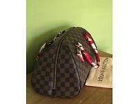 Louis Vuitton Ribera MM Handbag Bag In Brown Damier Ebene