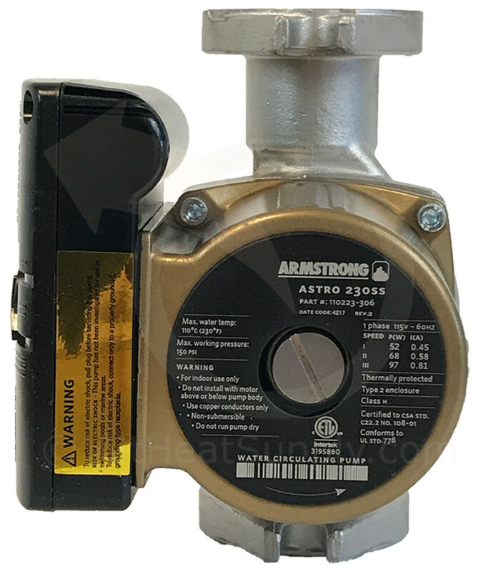 Armstrong Astro 230Ss, 110223-306, Stainless Steal, 3 Speed, Flanged