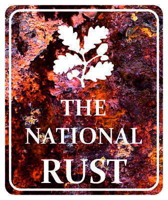 THE NATIONAL RUST- Funny Novelty Car, Van Vinyl Sticker Decal
