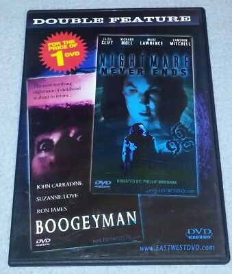 The Boogeyman & Nightmare Never Ends DVD Horror Double *RARE oo HALLOWEEN - Halloween The Boogeyman