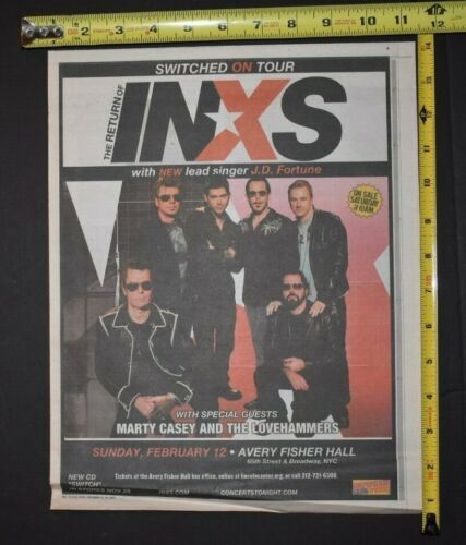 INXS 2005 Color Concert Ad The Return  W/J.D Fortune Marty Casey The Lovehammers